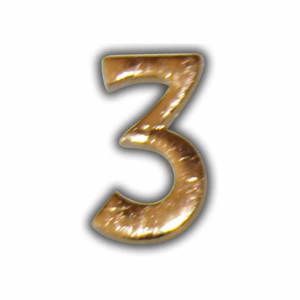 """Wachszahl """"3-Nummer Drei"""" in Gold Test"""