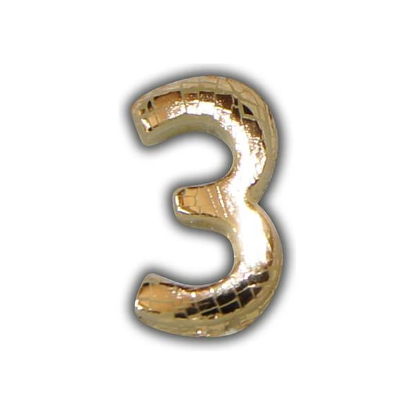 """Wachszahlen """"3-Nummer Drei"""" in Gold Test"""