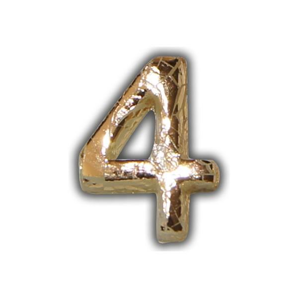 """Wachszahlen """"4-Nummer Vier"""" in Gold"""