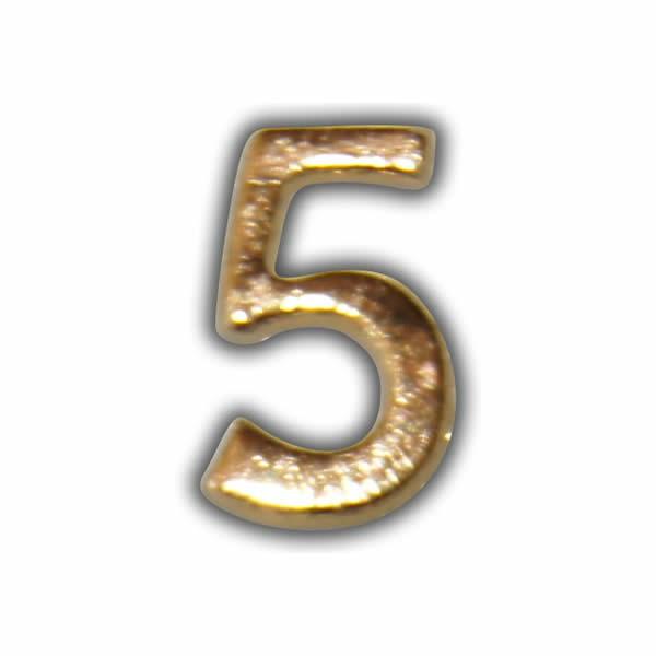 """Wachszahl """"5-Nummer Fünf"""" in Gold Test"""