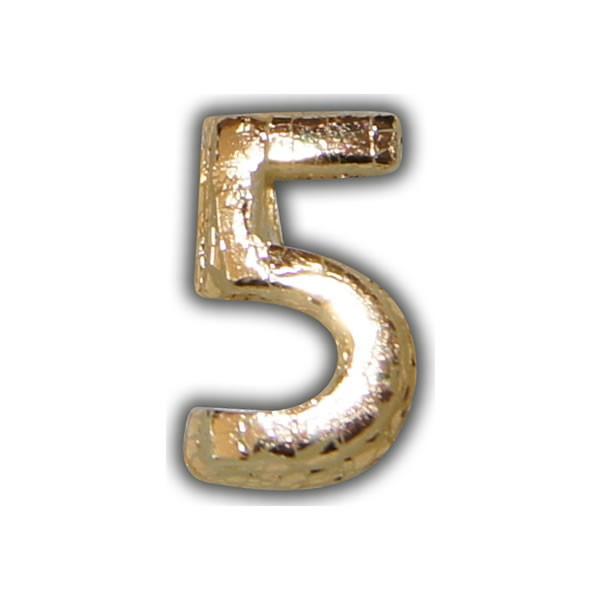"""Wachszahlen """"5-Nummer Fünf"""" in Gold Test"""