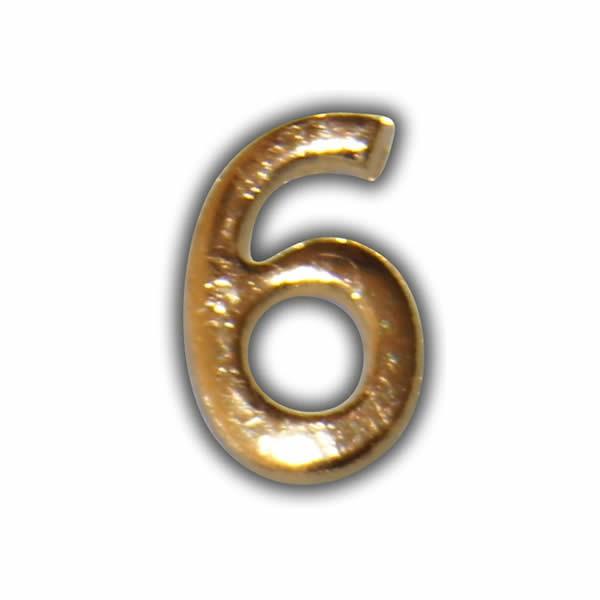 """Wachszahl """"6-Nummer Sechs"""" in Gold Test"""