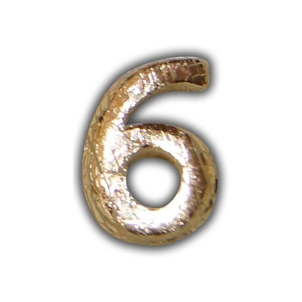 """Wachszahlen """"6-Nummer Sechs"""" in Gold Test"""