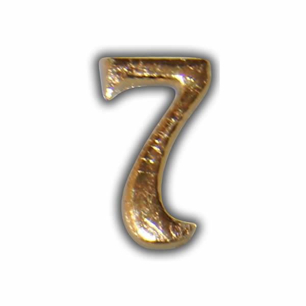 """Wachszahl """"7-Nummer Sieben"""" in Gold Test"""