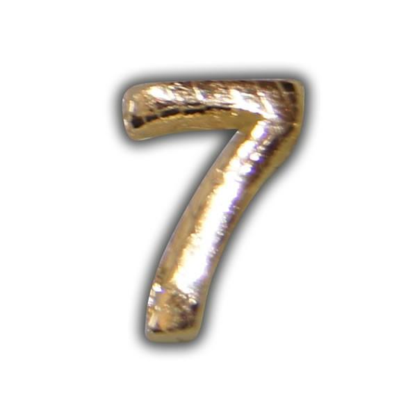"""Wachszahlen """"7-Nummer Sieben"""" in Gold Test"""