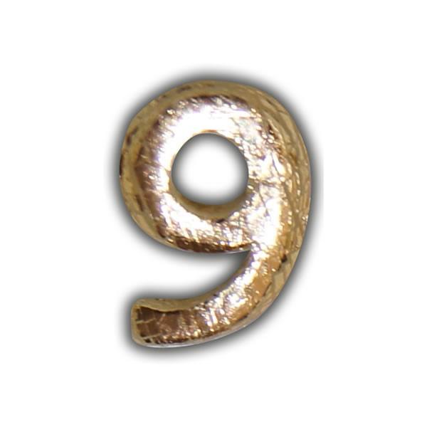 "Wachszahlen ""9-Nummer Neun"" in Gold Test"