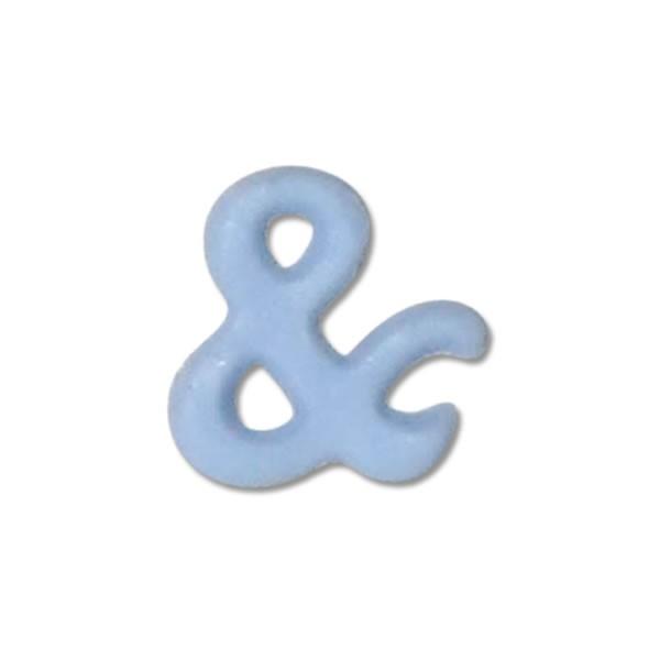 """Wachszeichen """"&-und"""" in Blau-Hellblau Test"""