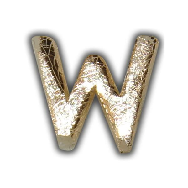 """Wachsbuchstabe """"W"""" Gold-Modern Test"""