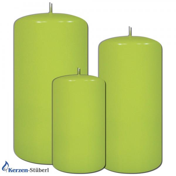 Weihnachtskerze-Adventskerzen-Grün-Limone